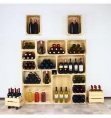 Skrzynka drewniana na wino 40x30