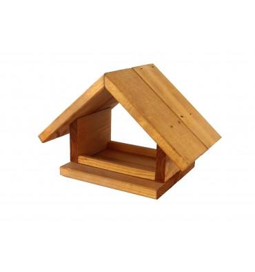 Karmnik dla ptaków drewniany kolor Domek K-10
